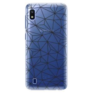 Plastové puzdro iSaprio - Abstract Triangles 03 - black - Samsung Galaxy A10