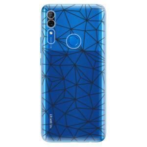 Odolné silikónové puzdro iSaprio - Abstract Triangles 03 - black - Huawei P Smart Z