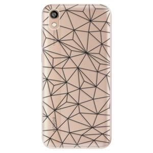 Odolné silikónové puzdro iSaprio - Abstract Triangles 03 - black - Huawei Honor 8S