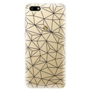 Odolné silikónové puzdro iSaprio - Abstract Triangles 03 - black - Huawei Y5 2018