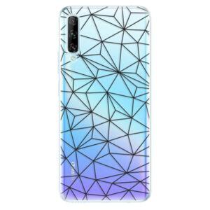 Odolné silikónové puzdro iSaprio - Abstract Triangles 03 - black - Huawei P Smart Pro