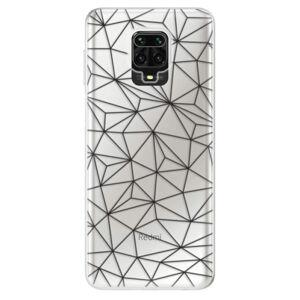 Odolné silikónové puzdro iSaprio - Abstract Triangles 03 - black - Xiaomi Redmi Note 9 Pro / Note 9S