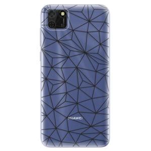 Odolné silikónové puzdro iSaprio - Abstract Triangles 03 - black - Huawei Y5p
