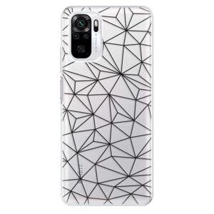 Odolné silikónové puzdro iSaprio - Abstract Triangles 03 - black - Xiaomi Redmi Note 10 / Note 10S