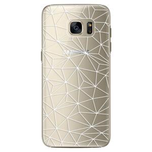 Plastové puzdro iSaprio - Abstract Triangles 03 - white - Samsung Galaxy S7