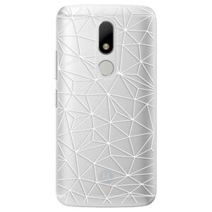 Plastové puzdro iSaprio - Abstract Triangles 03 - white - Lenovo Moto M