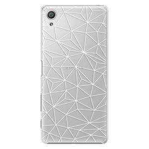 Plastové puzdro iSaprio - Abstract Triangles 03 - white - Sony Xperia X