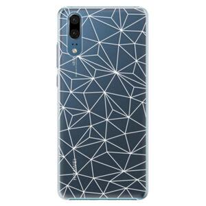 Plastové puzdro iSaprio - Abstract Triangles 03 - white - Huawei P20