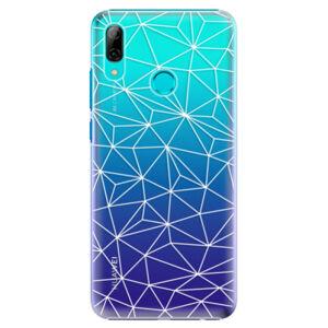 Plastové puzdro iSaprio - Abstract Triangles 03 - white - Huawei P Smart 2019