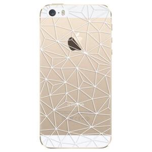 Odolné silikónové puzdro iSaprio - Abstract Triangles 03 - white - iPhone 5/5S/SE