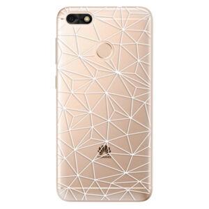 Odolné silikónové puzdro iSaprio - Abstract Triangles 03 - white - Huawei P9 Lite Mini