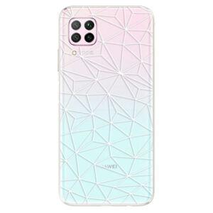 Odolné silikónové puzdro iSaprio - Abstract Triangles 03 - white - Huawei P40 Lite