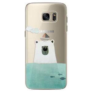 Plastové puzdro iSaprio - Bear With Boat - Samsung Galaxy S7