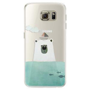 Silikónové puzdro iSaprio - Bear With Boat - Samsung Galaxy S6 Edge