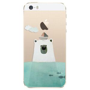 Odolné silikónové puzdro iSaprio - Bear With Boat - iPhone 5/5S/SE