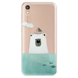 Odolné silikónové puzdro iSaprio - Bear With Boat - Huawei Honor 8S