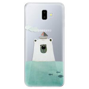 Odolné silikónové puzdro iSaprio - Bear With Boat - Samsung Galaxy J6+