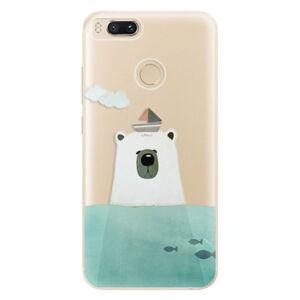 Odolné silikónové puzdro iSaprio - Bear With Boat - Xiaomi Mi A1
