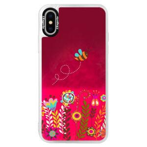 Neónové púzdro Pink iSaprio - Bee 01 - iPhone X