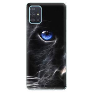 Odolné silikónové puzdro iSaprio - Black Puma - Samsung Galaxy A51