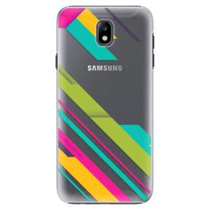 Plastové puzdro iSaprio - Color Stripes 03 - Samsung Galaxy J7 2017