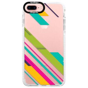 Silikónové púzdro Bumper iSaprio - Color Stripes 03 - iPhone 7 Plus