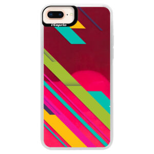 Neónové púzdro Pink iSaprio - Color Stripes 03 - iPhone 8 Plus