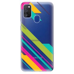 Odolné silikónové puzdro iSaprio - Color Stripes 03 - Samsung Galaxy M21
