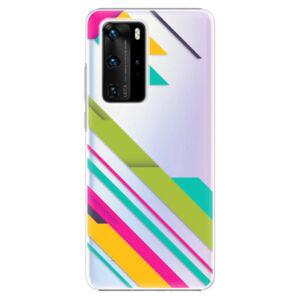 Plastové puzdro iSaprio - Color Stripes 03 - Huawei P40 Pro