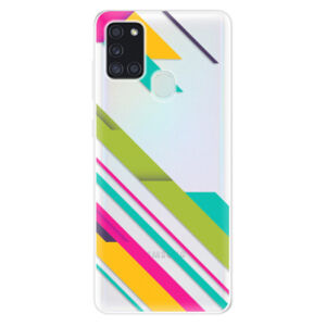Odolné silikónové puzdro iSaprio - Color Stripes 03 - Samsung Galaxy A21s