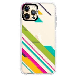 Silikónové puzdro Bumper iSaprio - Color Stripes 03 - iPhone 12 Pro
