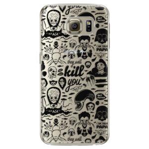 Plastové puzdro iSaprio - Comics 01 - black - Samsung Galaxy S6 Edge Plus