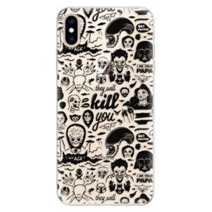 Silikónové puzdro iSaprio - Comics 01 - black - iPhone XS Max