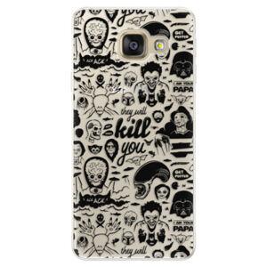 Silikónové puzdro iSaprio - Comics 01 - black - Samsung Galaxy A5 2016