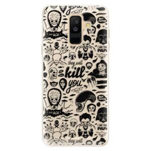 Silikónové puzdro iSaprio - Comics 01 - black - Samsung Galaxy A6+