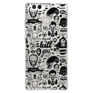 Silikónové puzdro iSaprio - Comics 01 - black - Huawei P9