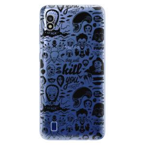 Odolné silikónové puzdro iSaprio - Comics 01 - black - Samsung Galaxy A10