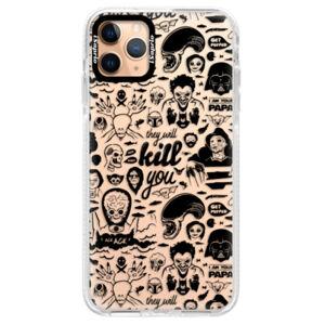 Silikónové puzdro Bumper iSaprio - Comics 01 - black - iPhone 11 Pro Max