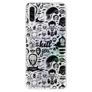 Odolné silikónové puzdro iSaprio - Comics 01 - black - Samsung Galaxy A30s