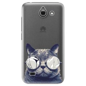 Plastové puzdro iSaprio - Crazy Cat 01 - Huawei Ascend Y550