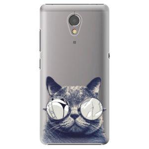 Plastové puzdro iSaprio - Crazy Cat 01 - Lenovo P2