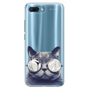Plastové puzdro iSaprio - Crazy Cat 01 - Huawei Honor 10