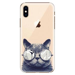 Plastové puzdro iSaprio - Crazy Cat 01 - iPhone XS