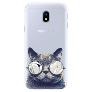 Silikónové puzdro iSaprio - Crazy Cat 01 - Samsung Galaxy J3 2017