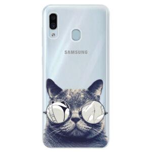 Silikónové puzdro iSaprio - Crazy Cat 01 - Samsung Galaxy A30