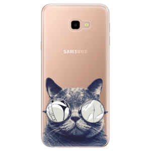 Odolné silikónové puzdro iSaprio - Crazy Cat 01 - Samsung Galaxy J4+