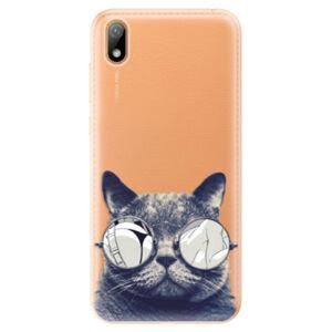 Odolné silikónové puzdro iSaprio - Crazy Cat 01 - Huawei Y5 2019