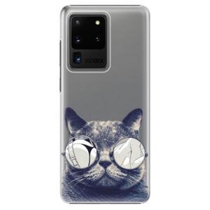 Plastové puzdro iSaprio - Crazy Cat 01 - Samsung Galaxy S20 Ultra