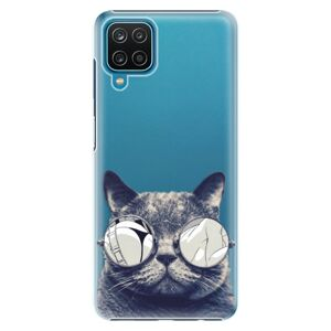 Plastové puzdro iSaprio - Crazy Cat 01 - Samsung Galaxy A12