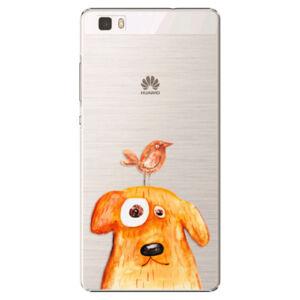 Plastové puzdro iSaprio - Dog And Bird - Huawei Ascend P8 Lite